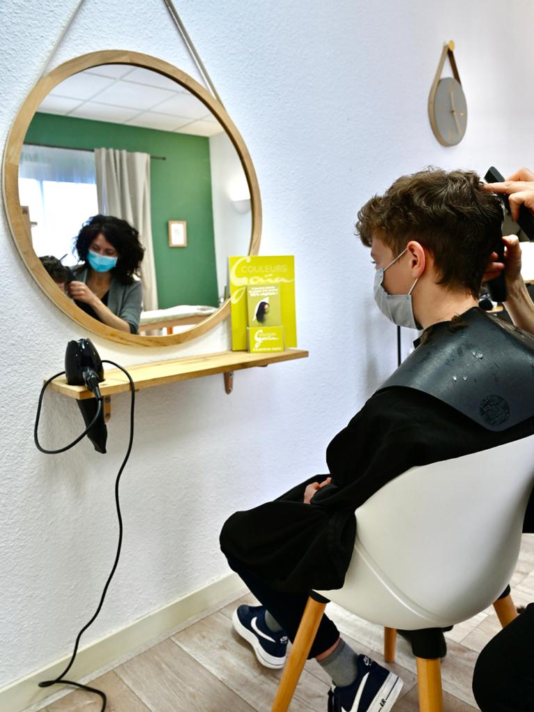 Salon de coiffure végétal
